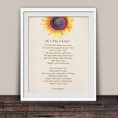 Excited to share the latest addition to my #etsy shop: It's You I Like Poem #misterrogers  #art #encouragementgift