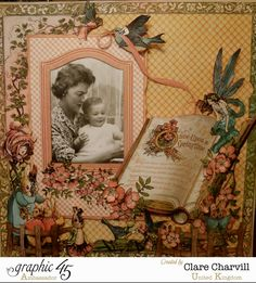 April 2015 G45 Once Upon a Springtime - Mum & Me Layout by Clare Charvill; My Creative Spirit