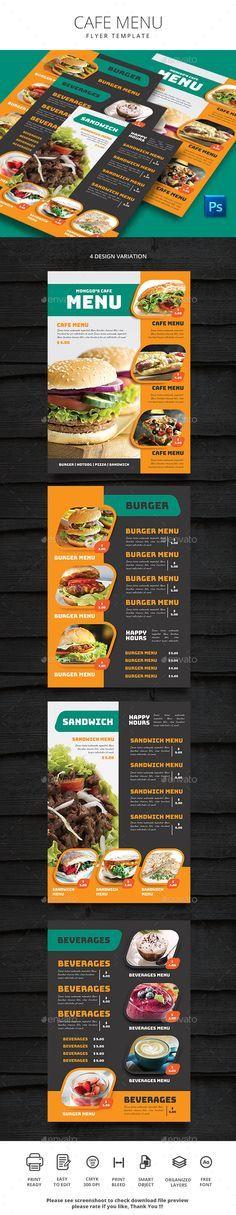 Simple Cafe #Menu - #Food Menus Print Templates