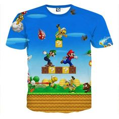 Super Mario Bros Luigi Monster Scene Vibrant Game T-Shirt    #Super #Mario #Bros #Luigi #Monster #Scene #Vibrant #Game #TShirt