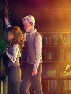 Here you go, welcome back to Hogwarts! I'm sorry, Draco in my mind is kind of insecure, and I like teenage shyness in general, but I know that many people prefer bold, witty Draco so I'...