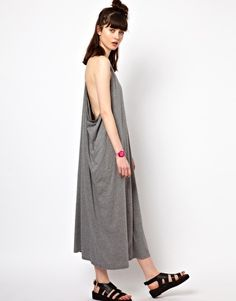 Almandine maxi dress in onyx