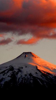 Villarrica Volcano at sunset - Chile