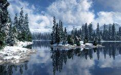 Fond d'écran hd : paysage hiver