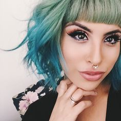 I would never do this to my hair or nose, but this person pulls it off well!