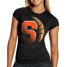 all in basketball tshirt | Syracuse Orange Ladies Black Blackout Basketball T-shirt
