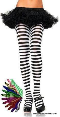 587949d6fce73 22 Best Striped tights images | Tights, Socks, Black Stockings