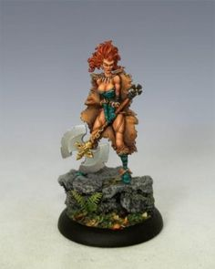 red-haired barbarian from Cool Mini or Not