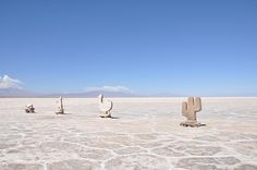 Salt sculptures, Salinas Grandes, Jujuy