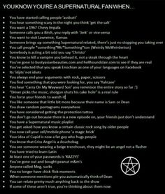 Supernatural fan when...