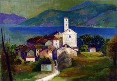 Karl Hofer - Italian Landscape, Agnuzzo |via Irina, Flickr - Photo Sharing!