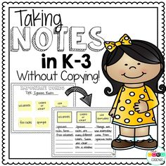 The possibilities are endless once you teach your students this tried and true strategy. Even the youngest students can be successful taking notes and writing about text. Learn how to carefully scaffold this note-taking process.