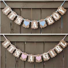 It's A Girl/Boy Baby Shower Bunting Party Banner Garland Photo Props Decor Sign in Baby, Maternity/ Pregnancy, Baby Showers Baby Shower Bunting, Party Bunting, Shower Banners, Baby Shower Decorations, Bunting Ideas, Peach Baby Shower, Gender Neutral Baby Shower, Baby Boy Shower, Baby Showers
