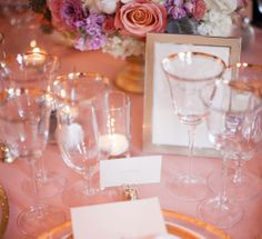 Beautiful Gold rimmed glasses and matching table wear decorated the tables of The Flood Mansion and made the room sparkle.  Photos by Clane Gessel Photography   #weddings #photography #goldwedding #sanfranciscowedding