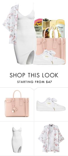 """""""Everybody needs you✨"""" by maiyaxbabyyy ❤ liked on Polyvore featuring Yves Saint Laurent and Puma"""