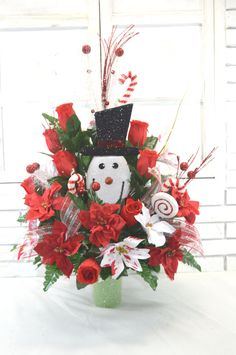 NO.c1118 Holiday Christmas Silk Flower Cemetery, Cone Vase Arrangement,Tombstone Saddle, Cemetery flowers , Grave flowers, Cemetery Saddle. by AFlowerAndMore on Etsy