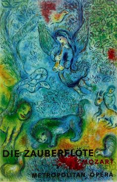 The Magic Flute (Die Zauberflote), 1973 Exhibition Poster, Marc Chagall