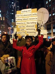 When black people even mention racism we are calked racist. Keep talking! Keep protesting! Nothing will change without a fight. Protest Art, Protest Signs, Protest Posters, My Academia, Power To The People, Faith In Humanity, Human Rights, Social Issues, At Least