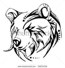 Image result for tribal bear art