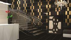 Salle De Bain Mtro Glamour Chic Or Noir Graphique