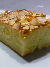 Chocolate y Pimienta: Bizcocho mascarpone y manzana