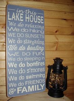 In This Lake House Subway/Typography Word Art by RusticNorthern, $60.00