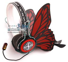 Vocaloid Red Butterfly Headphones from Magnet