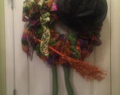 Guirnalda de Halloween bruja por kathyleeskreations en Etsy