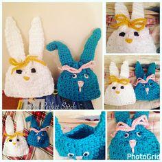 Crochet Easter Bunny Treat Bags/Sacks...  -- The Perfect Stitch...: Crochet Bunny Treat Bags/Sacks...