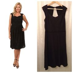 Adrianna Papell Linen Fit and Flare Beautiful fit and flare dress! Fully lined and features gorgeous detail! Front sweetheart and cap sleeves, the back cutaway and dainty black button at neck! Gorgeous for any occasion! For is mor elite a 10. Adrianna Papell Dresses
