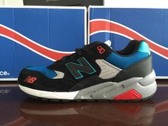 Newest 2015 New Balance 580 Mens Mesh Black Blue Shoes Cheap New Balance, New Balance Men, Blue Shoes, Men's Shoes, Mens Shoes Sale, New Balance Sneakers, Sneakers For Sale, Mesh, Nice
