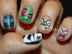 My Invader Zim Nails