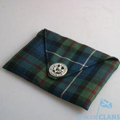 Tartan Clutch Bag( Morven ) *New* MacDonald of Clanranald Clan Shop - Kilts Scottish Clans Tartans Kilts Crests and Gifts