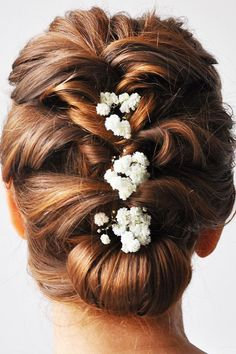 Top Wedding Updos For Medium Hair ❤ See more: http://www.weddingforward.com/wedding-updos-for-medium-hair/ #weddingforward #bride #bridal #wedding