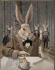David Delamare | ILLUSTRATION | Alice's Adventures in Wonderland | The March Hare