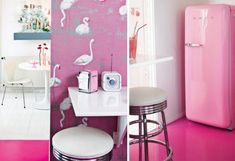 Architecture, Dazzling Apartment Interior Design with Feminine Theme: Sweet Living Space With Pink Floor Design
