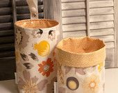 Wastebasket car trash can collapsible thread catcher use anywhere crafting trash laminated cotton waterproof WASTIE Lost and Found prints