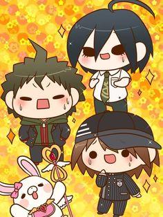 Read What's your opinion on Hajime x Makoto x Shuichi? (Danganronpa from the story ❤️Danganronpa opinion ships! Danganronpa Game, Danganronpa Characters, Gundam, Makoto, Pink Blood, Nagito Komaeda, Trigger Happy Havoc, Another Anime, Cute Chibi