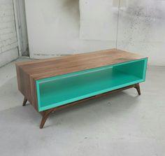 Console // MidCentury Modern // Handmade // Solid by brassandbark, $725.00