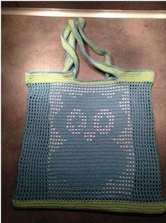 Gratis opskrift på hæklet uglepose / indkøbsnet