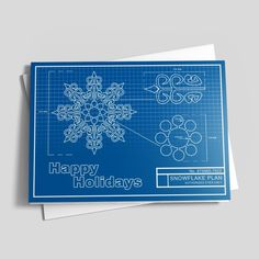 Perfect Snowflake Blueprint - Happy Holidays from CardsDirect