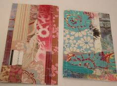 What to do with all those lil pieces of scrapbook paper you've been saving! Paper scrap journal pages 002
