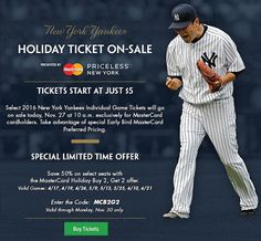 Yankees Holiday Ticket News