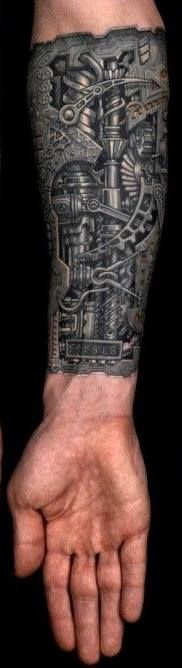 W <3 W the detail is pretty awesome Incredible bio-mechanical tattoo by Anil Gupta