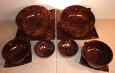 mango wood platters and bowls
