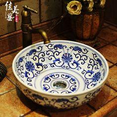 Painted Ceramic Wash Basin Online | Hand Painted Ceramic Wash ...