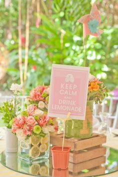 pink lemonade birthday party. What a cute idea for a little girl's summer bday