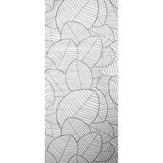Panneau japonais, Feuillage blanc, H.250 x l.50 cm                                                                                                                                                                                 Plus