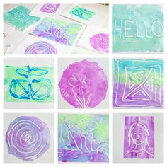Monoprinting with Kids the Easy Way - love the way these finished prints turned out