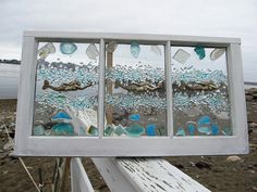 Mermaid Sea Glass Window by beachcreation on Etsy, $175.00